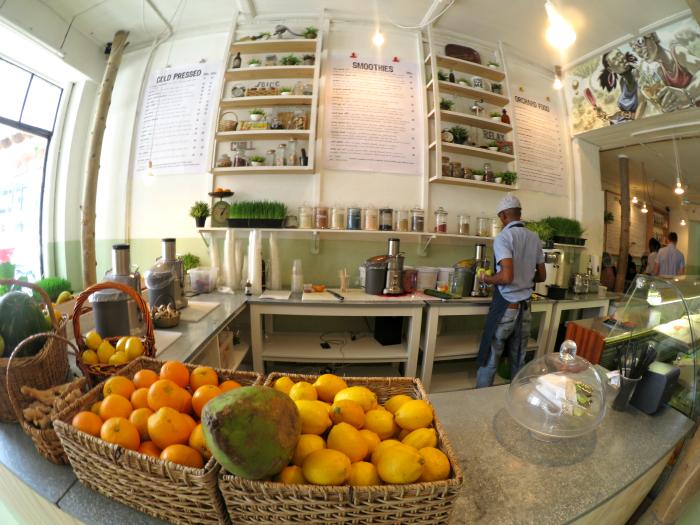 Vegetarisches Cafe in Kapstadt